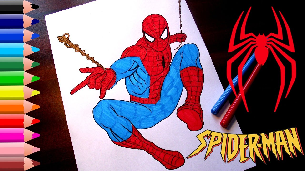 spiderman coloring pages for kids how to color spiderman