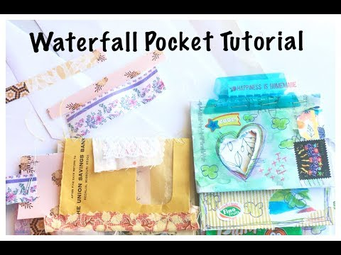 Waterfall Pocket Tutorial:  Journal Process Video:  Junk Journal with Me