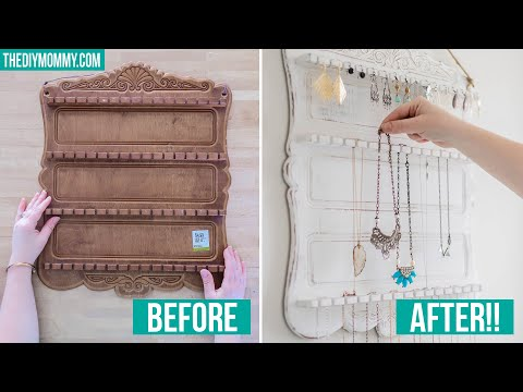 TRASH TO TREASURE   How to Make a Jewelry Organizer from a Thrifted Spoon Rack