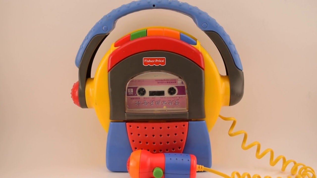 Fisher-Price 1999 Mattel TUFF STUFF Cassette Tape Player Recorder Microphone - YouTube