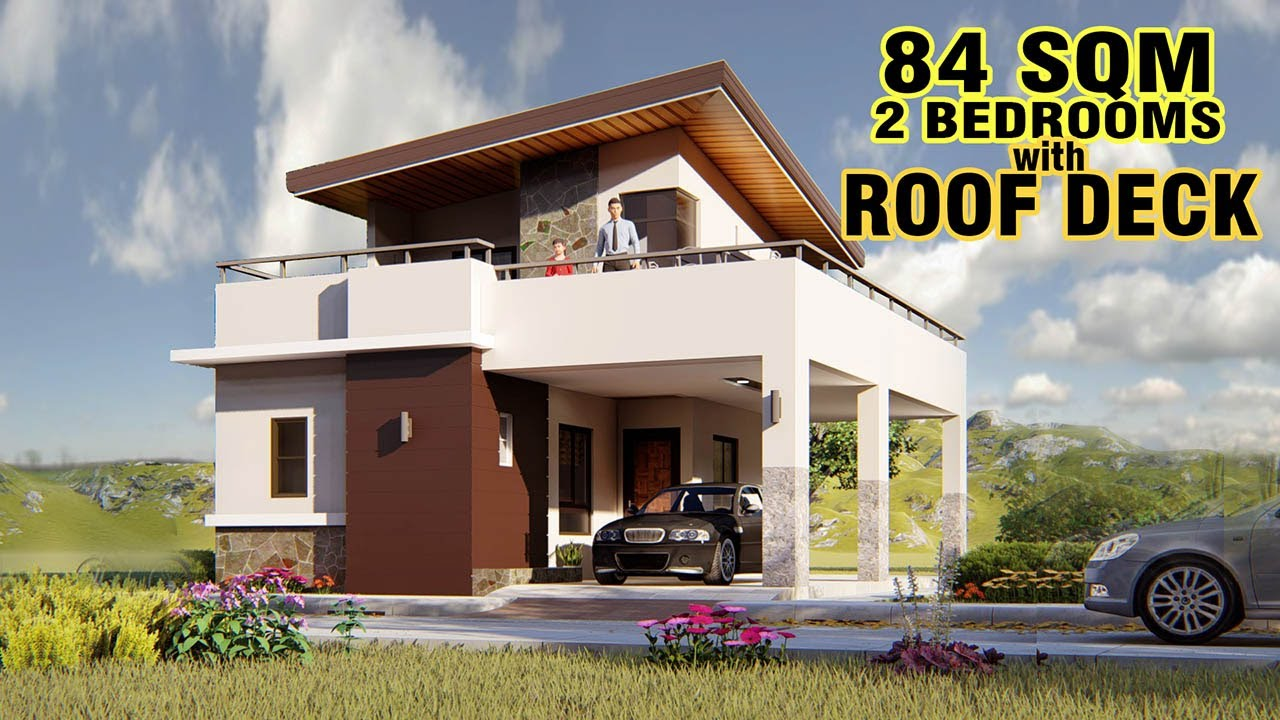 Small House Design 84 Sqm With Roof Deck Youtube