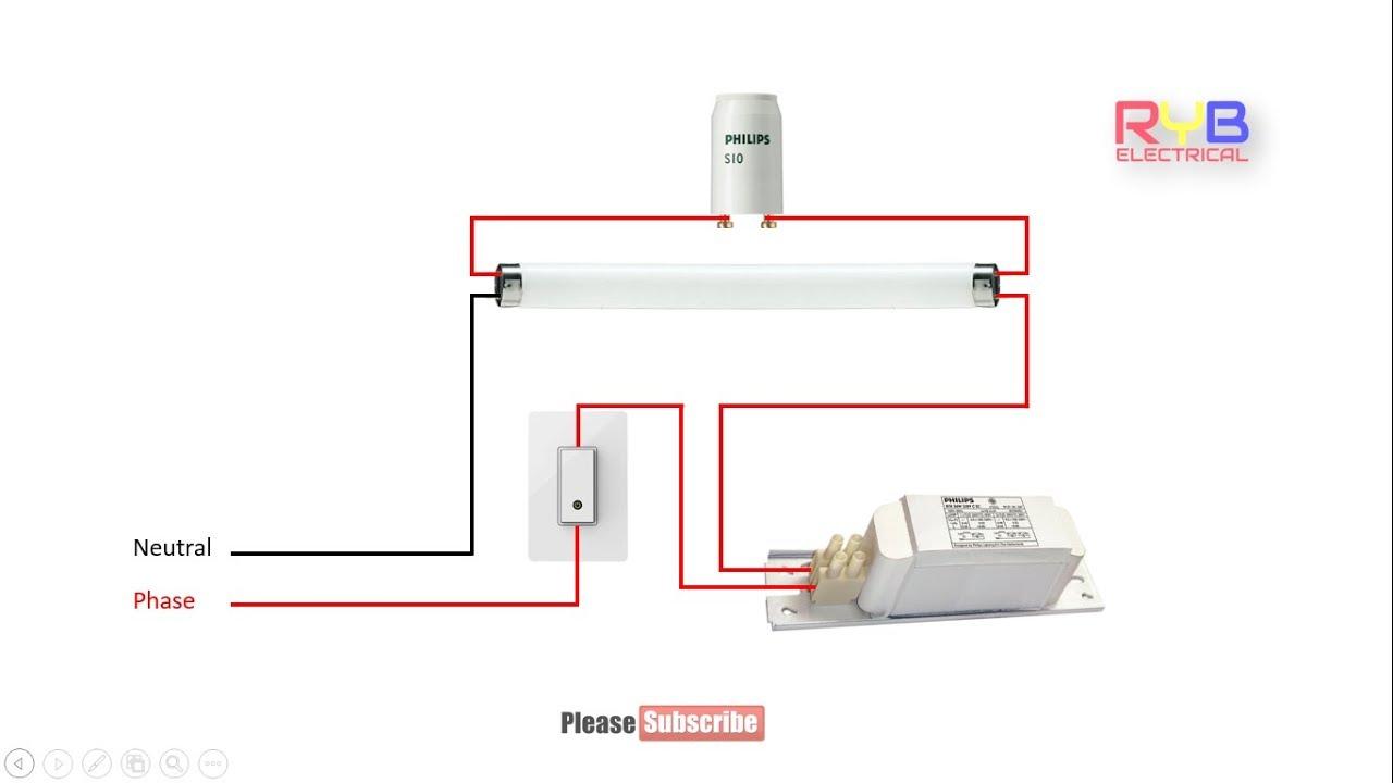Tube Light Circuit Wiring Diagram