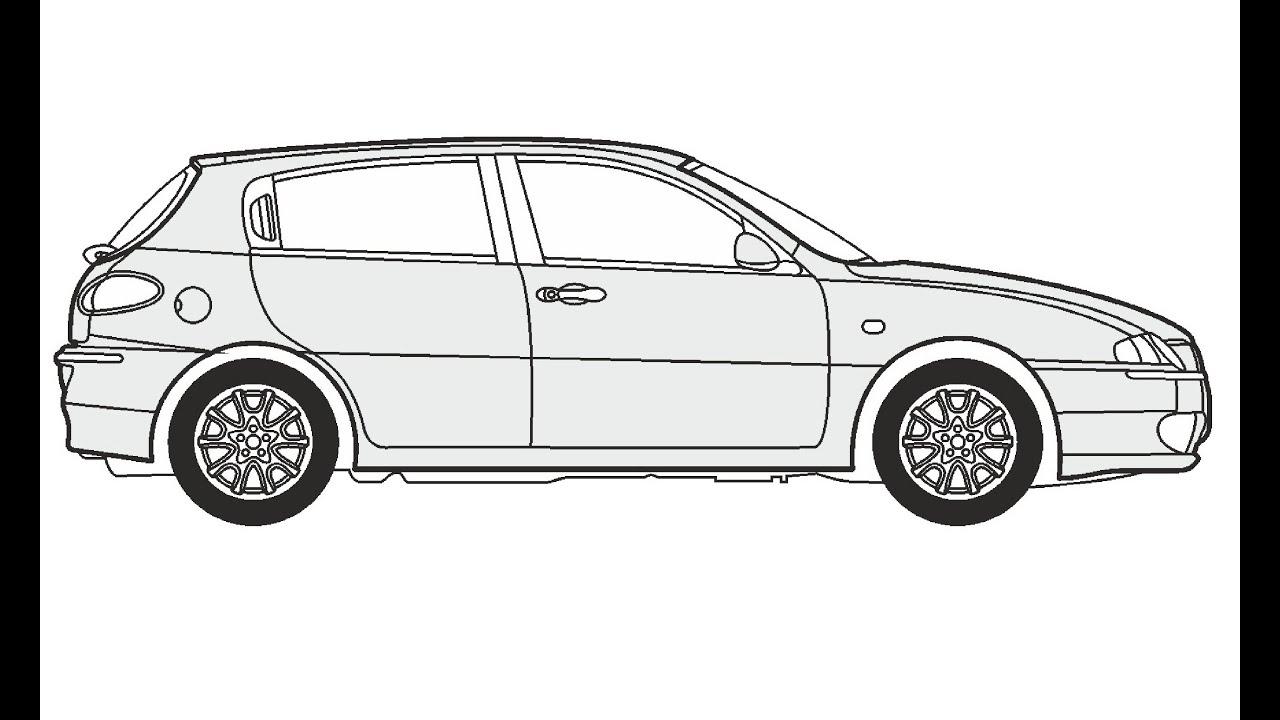 How to Draw an Alfa Romeo 147 / Как нарисовать Alfa Romeo