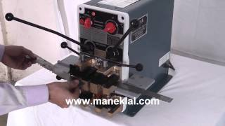 'manek' Band Saw And Wire Butt Welding Machine Model: Mbw-15b