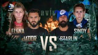 Tensiune maxima in STAFETA jocului de recompensa! Starlin si Sindy vs Jador si Elena!