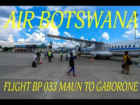 Air Botswana Flight BP 33 Maun to Gaborone - Sir Seretse Khama International Airport