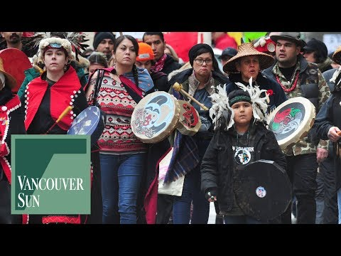 Indigenous march in Vancouver to oppose gas pipeline | Vancouver Sun