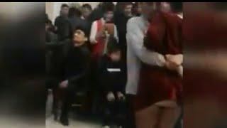 Узбек на свадьбе чуть ли не занялся сексом с молодой девкой uzbek TU'YDA YSH QIZ BILAN