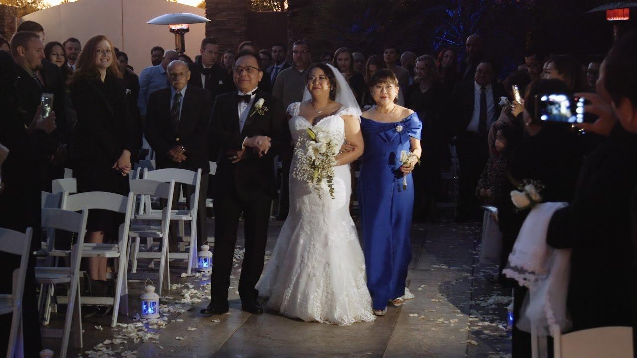 Las Vegas Rainbow Gardens Wedding Highlights Film Michele and