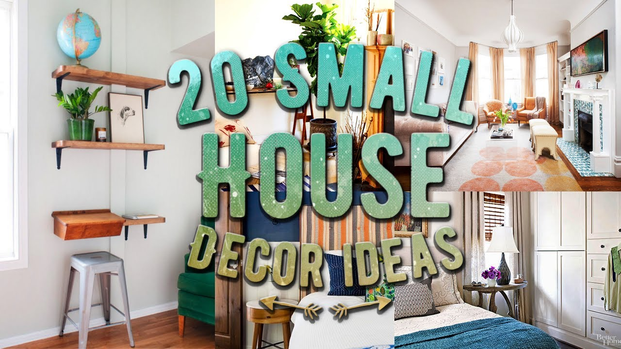 20 small house decor ideas youtube. Black Bedroom Furniture Sets. Home Design Ideas