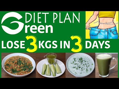 Lose 1Kg In 1 Day | Green Diet Plan For Weight Loss | Diet Plan To Lose 1Kg In 1 Day