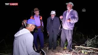Köyün ihtiyarları domuz nöbetinde