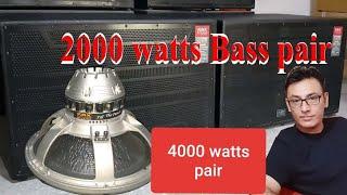 2000 watts Bass pair 4k video