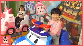 뽀로로 키즈 카페  기차 자동차 어린이 놀이 시간 테마파크 ♡ 어린이 장난감 놀이 Indoor Playground Fun Play | 말이야와아이들 MariAndKids