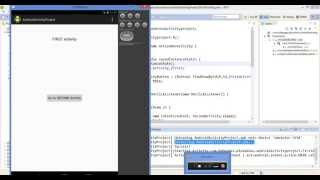 Output of Android Activity application example - form one screen activity to another screen activity