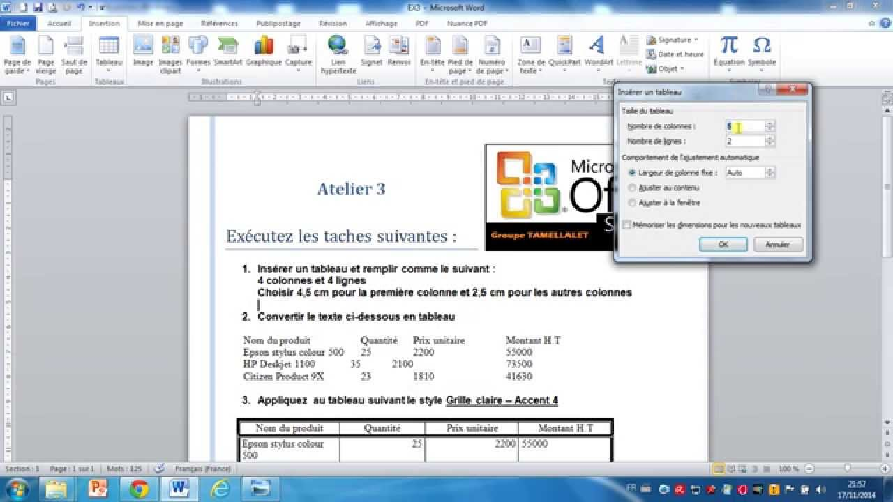 Examen MOS Word 2010 Question 11 - YouTube