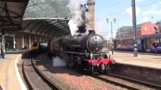 LNERs K4 61994 The Great Marquess and K1 62005 at Newcastle Railway Station with
