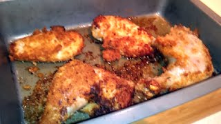 Oven Fried Chicken, moist delicious and low-carb