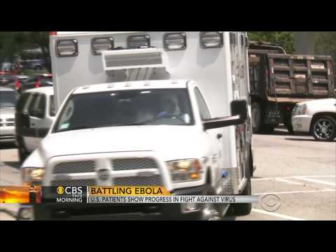 Two American Ebola patients show progress in recovery