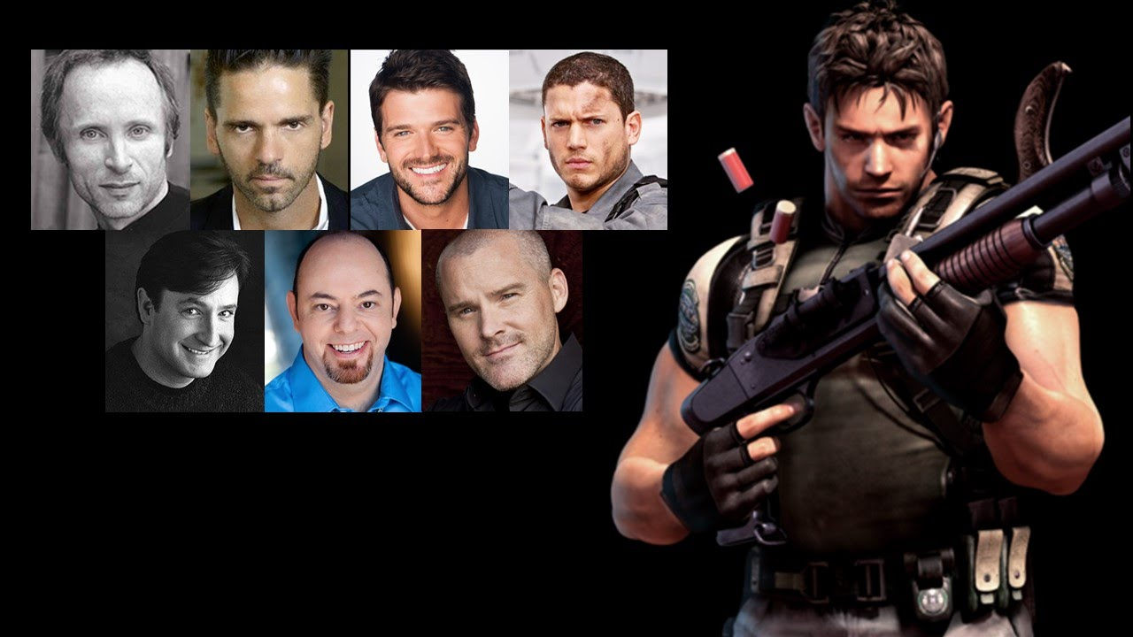 Comparing The Voices Chris Redfield Youtube