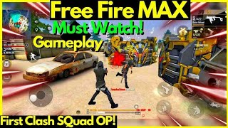 free fire Max gameplay clash squad 🔥🖤wait for end 😁