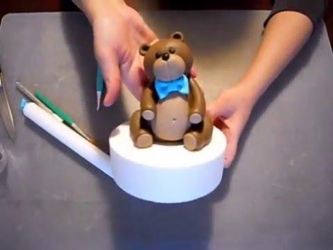 Tutorial orsetto pasta di zucchero cake design youtube for Decorazioni torte vendita