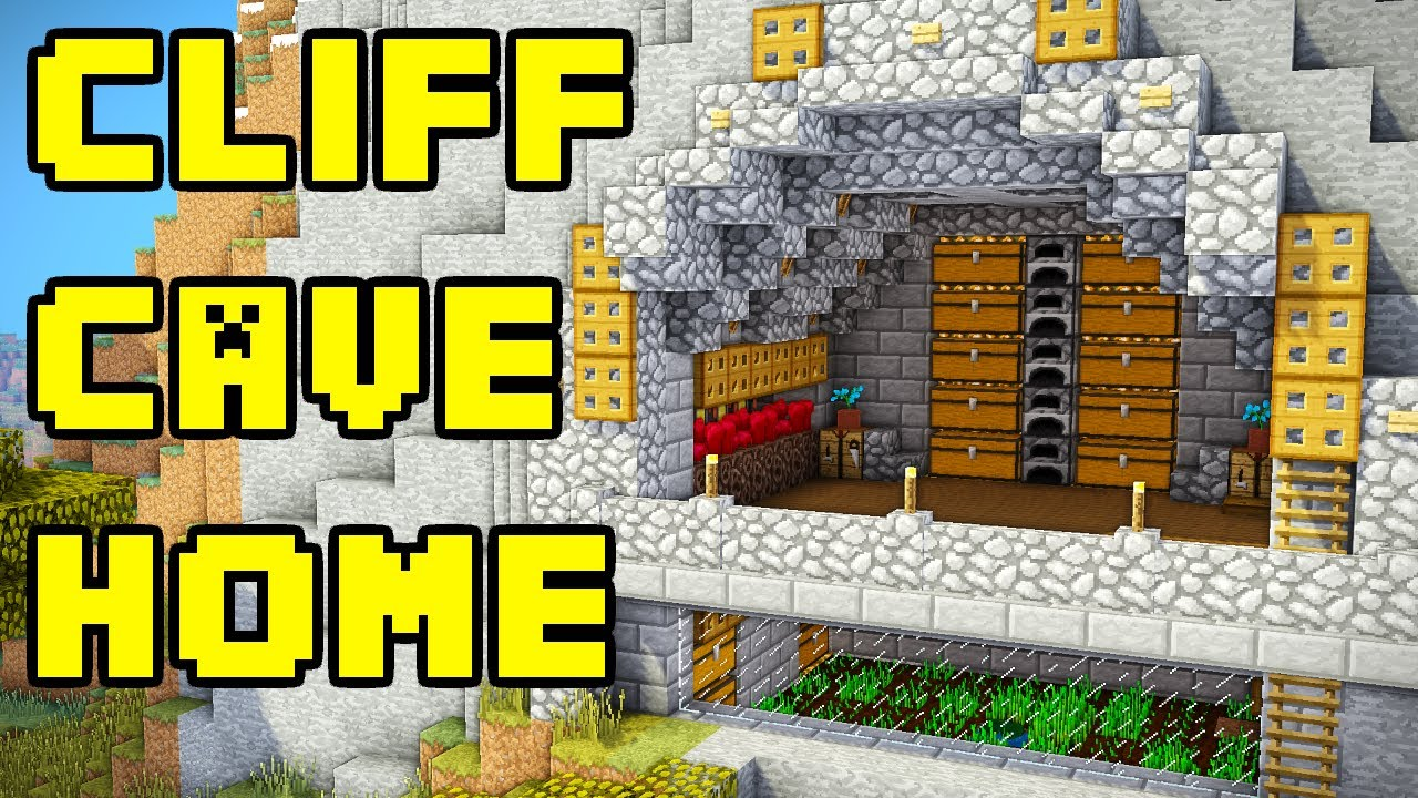 How to build a cliff house in minecraft tutorial youtube for How to build a house in a mountain