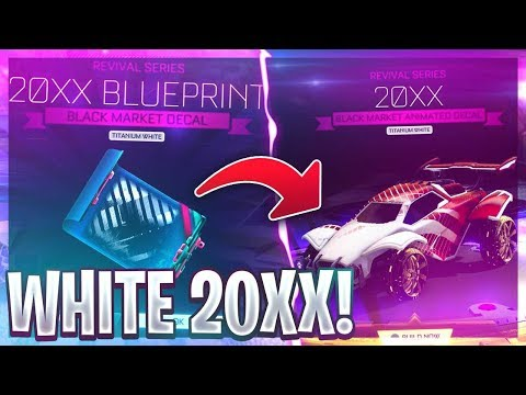 I REDEEMED THE WHITE 20XX ON ROCKET LEAGUE! (MOST EXPENSIVE BLACK MARKET)