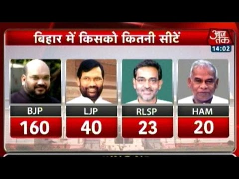 Bihar Elections: BJP to Contest for 160 Seats; LP 40; RLSP 23; HAM 20
