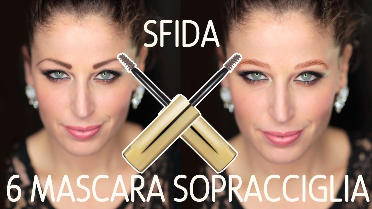 593800de7e3 SFIDA 6 MASCARA PER SOPRACCIGLIA COLORATI - YouTube