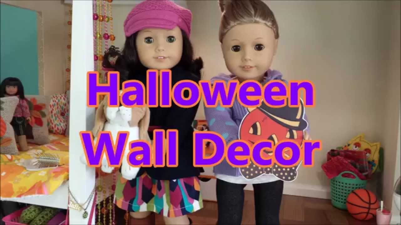 halloween decorations for american girl dolls house 2014 fall oct youtube