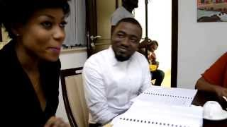 House of Gold Behind the Scenes Watch Ice prince Yvonne Nelson and Omawumi practice their lines