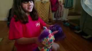 Purple Monster attacks Beanie Boos