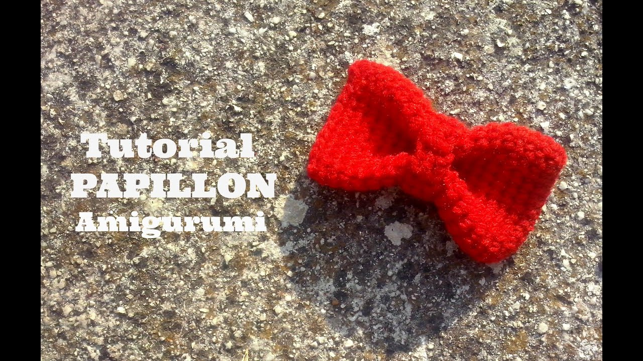 tutorial papillon amigurumi how to crochet a papillon