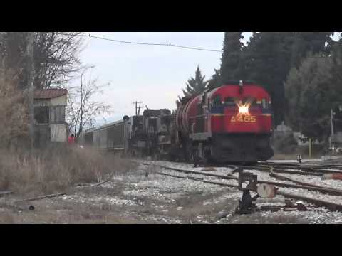 FREIGHT TRAINS AT EASTERN MACEDONIA JANUARY 2015