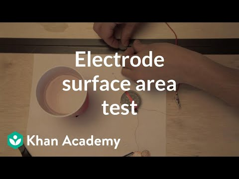Electrode (surface area test) | Discoveries and projects | P