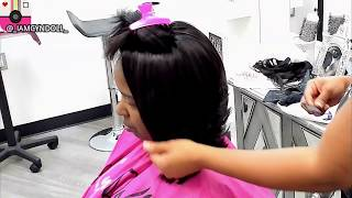 A-LINE BOB & FULL SEW IN WITH LACE CLOSURE