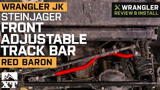 Jeep Wrangler JK Steinjager Adjustable Poly/Poly Chrome Moly Track Bar - Red Baron Review & Install