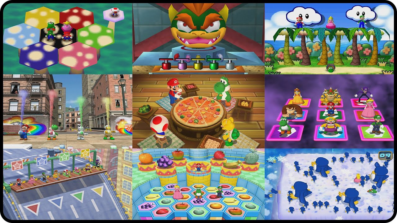 Mario Party All MiniGames Mario