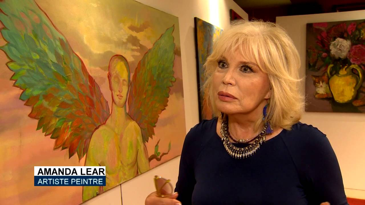 Prix D Un Tableau D Artiste amanda lear expose ses nouvelles toiles à monaco