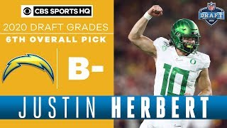 Justin Herbert has ALL THE TOOLS to be a great QB for the Chargers  | 2020 NFL Draft | CBS Sports HQ