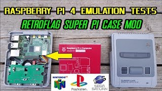 Raspberry Pi 4 Lakka & Kodi emulation tests Sega Saturn, N64, PS1 + Retroflag SuperPi Case Mod