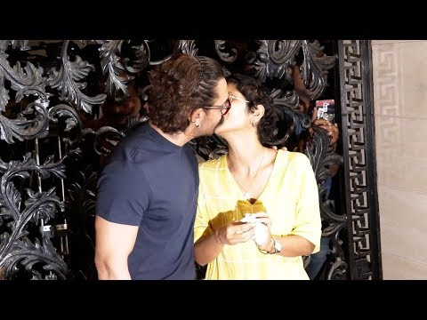 Aamir Khan KISSING Wife Kiran Rao in Public At His Birthday Celebration