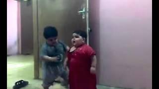Funny Big Baby Arab Fighting !!