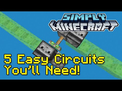 5 Easy Redstone Circuits Tutorial | Simply Minecraft (Java Edition 1.16)