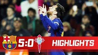 Barcelona vs Celta 5-0 Resumen Highlights 11/01/2018