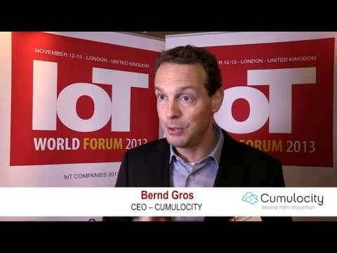 Bernd Gross, Cumulocity Interview - IOT World Forum 2013
