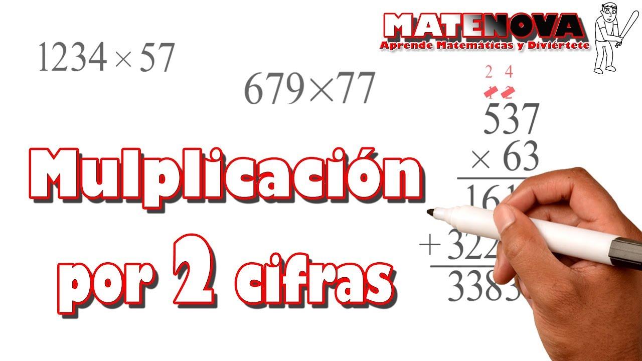 Multiplicación Por Dos Cifras Ejercicios Matenova