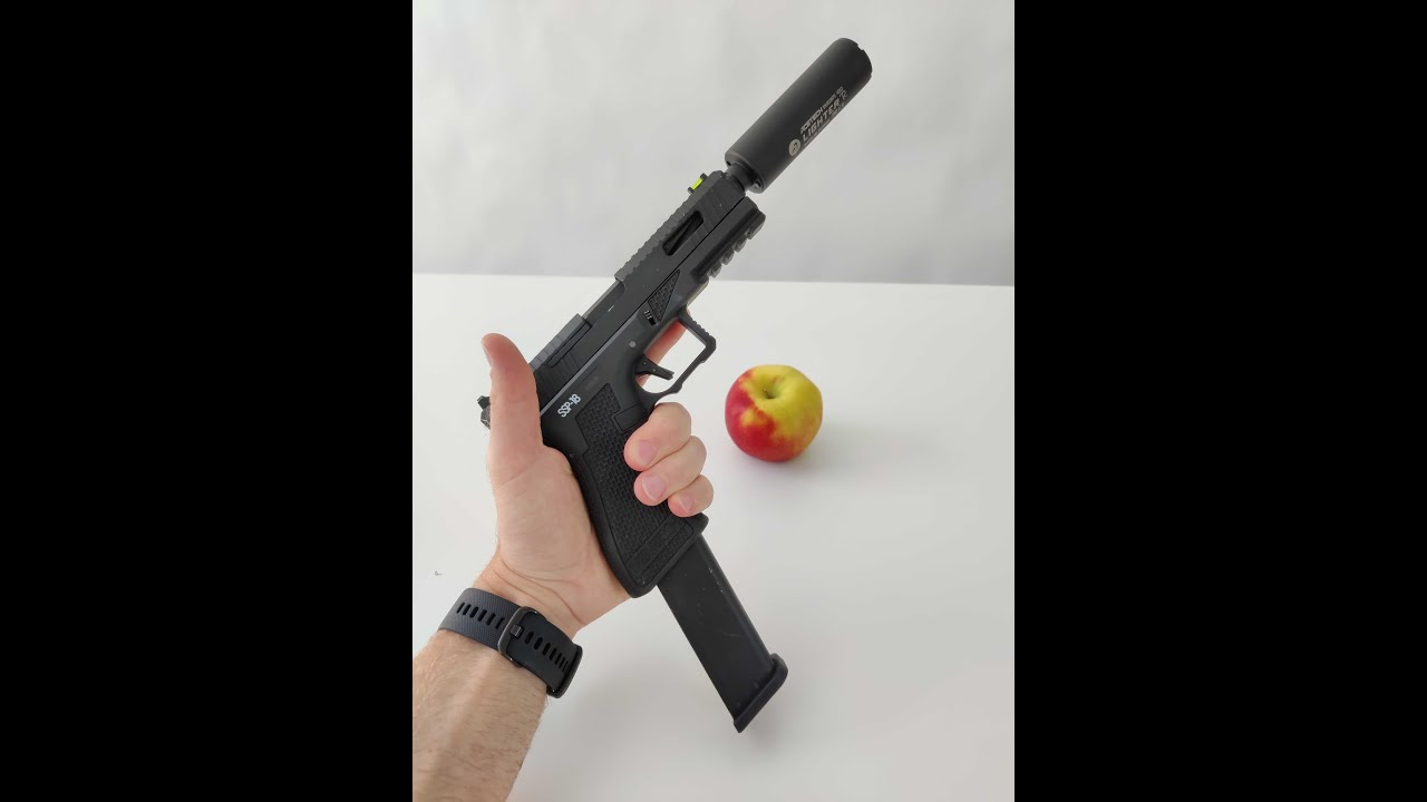 Airsoft destroys apple #shorts #airsoft