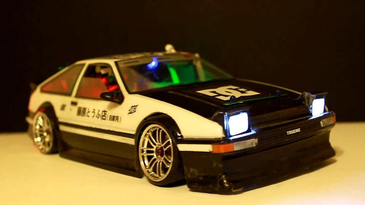 rc initial d ae86 youtube. Black Bedroom Furniture Sets. Home Design Ideas